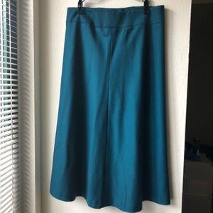 Retro : Talbot : Teal : Midi A-Line Skirt